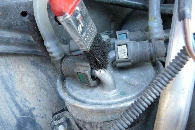 Рено колеос дизель замена топливного фильтра 186