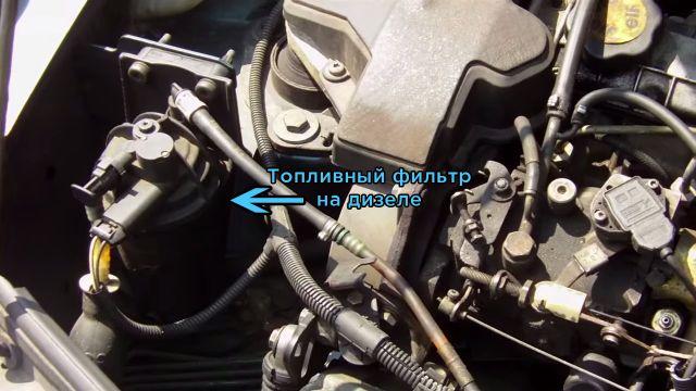 Рено колеос дизель замена топливного фильтра 47